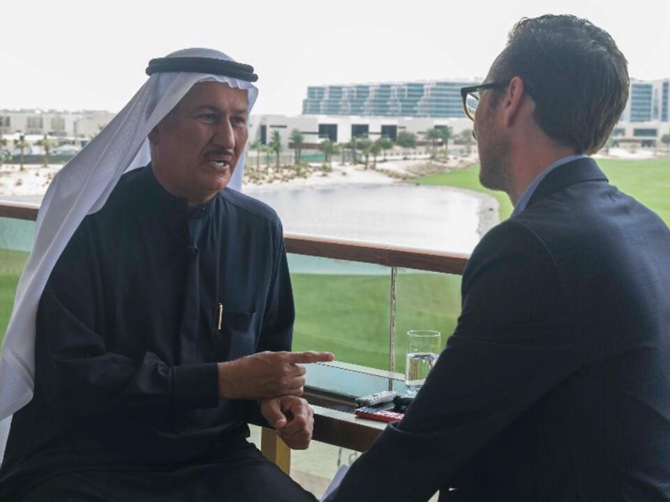 حسين سجواني - مقابلة حصرية في داماك هيلز مع جيرمي لورانس، مدير التحرير في أريبيان بزنس