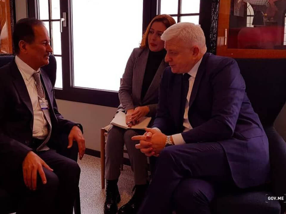 حسين سجواني - السيد دوسكو ماركوفيتش رئيس وزراء مونتينيجرو