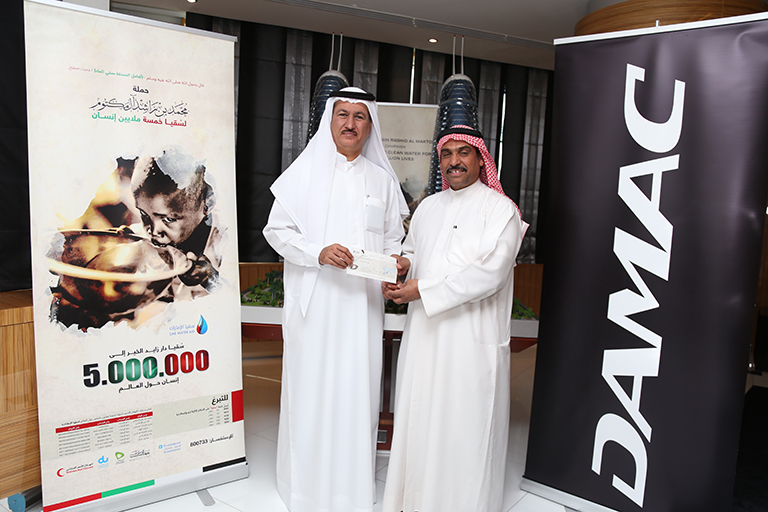 Hussain Sajwani Emirates Red Crescent – donated AED 1 Million to the UAE Suqia (Water Aid) Campaign.