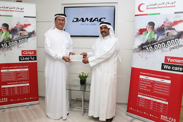 "Hussain Sajwani Emirates Red Crescent – donated AED 1 million to ""Yemen We Care"" Campaign"