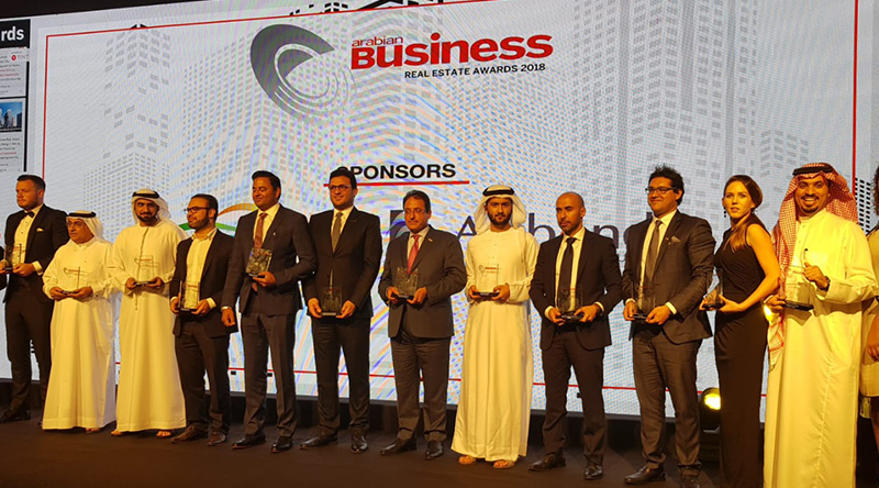 Named 'Real Estate Legend' at the Arabian Business Real Estate Awards 2018