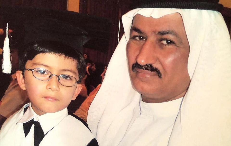 حسين سجواني - مع ابني عباس