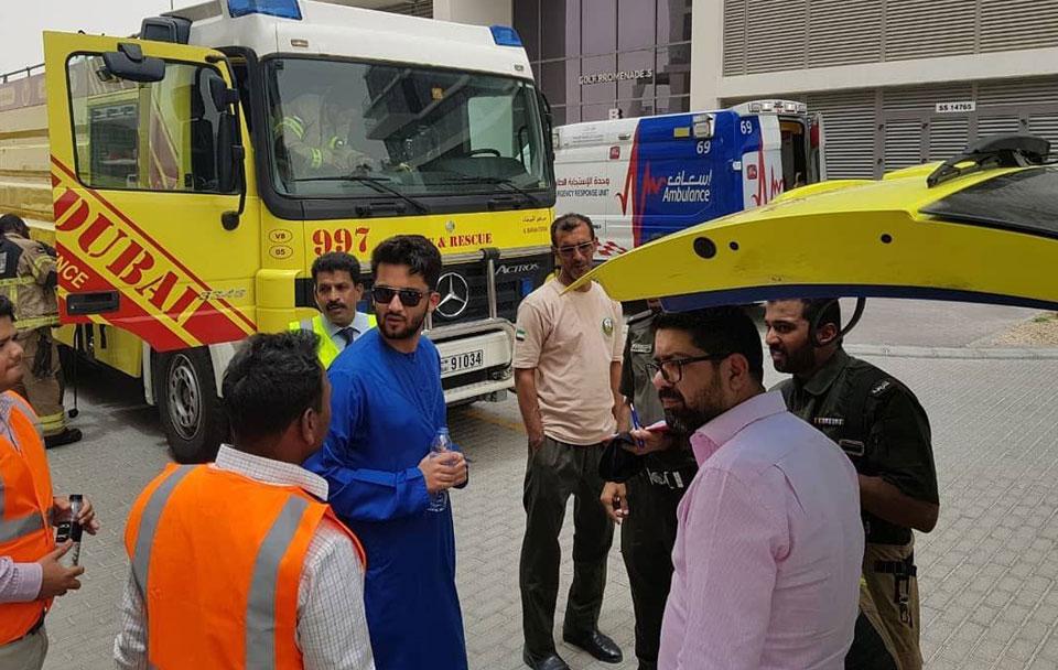 حسين سجواني - تدريبات الإطفاء في داماك هيلز