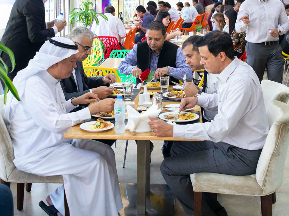 Shared a wonderful meal with my DAMAC colleagues at our company headquarters