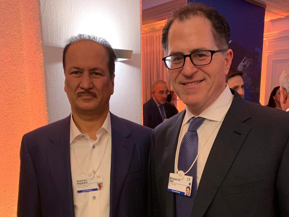 With Michael Dell at World Economic Forum, Davos