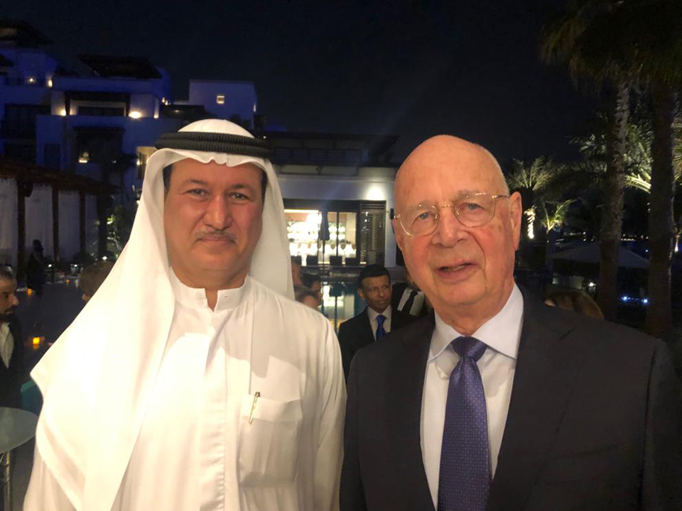 With Professor Klaus Schwab, Founder and Chairman of the World Economic Forum