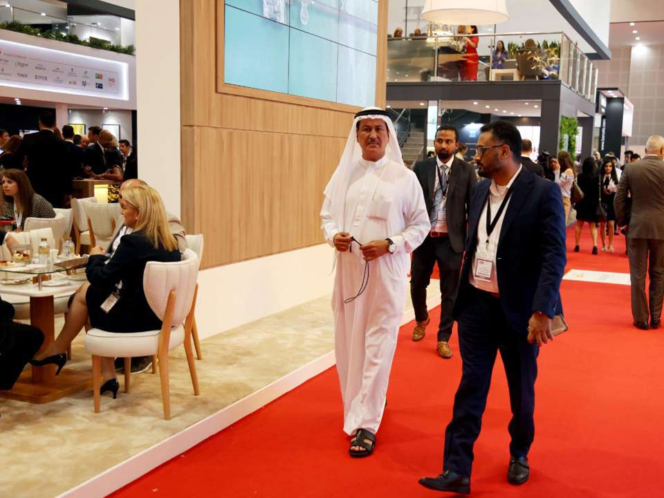 At the opening day of the Arabian Travel Market exhibition