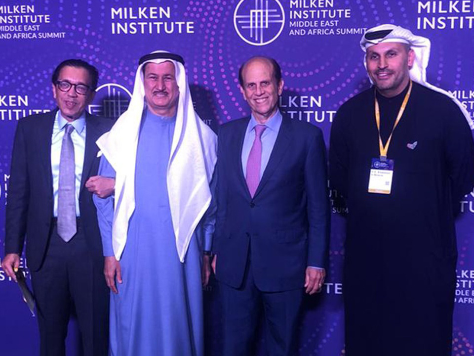 It was great catching up again with Michael Milken, and HE Khaldoon Al Mubarak, the Chief Executive Officer and Managing Director of Mubadala Development Company