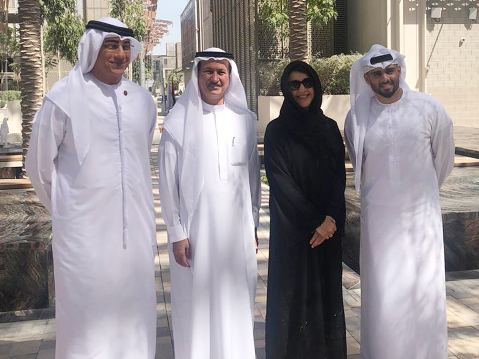 On tour of the spectacular Expo 2020 site with HE Reem bint Ibrahim Al Hashemy, Minister of State for International Cooperation & Director-General of the Expo 2020 Dubai Office and other leaders