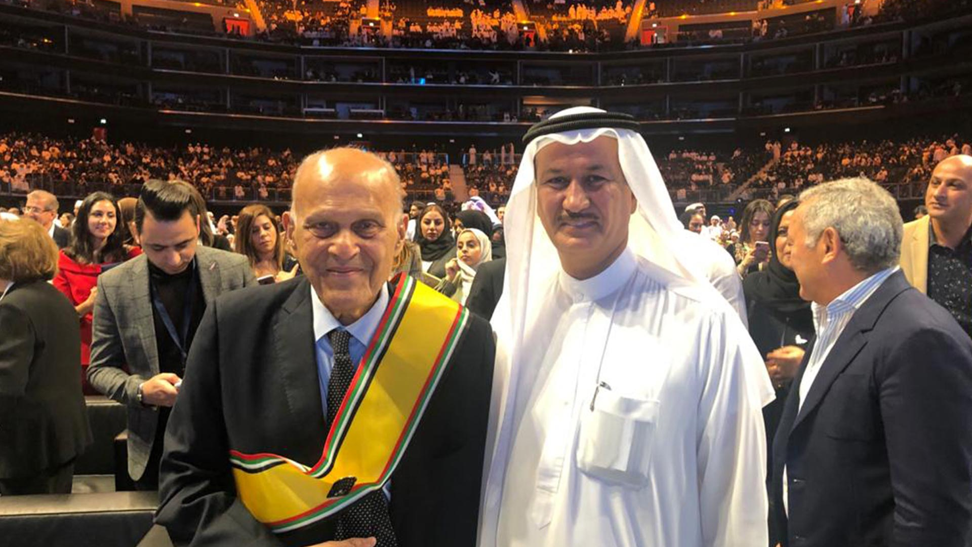 I was delighted to meet Dr Magdi Yacoub at the Arab Hope Makers ceremony